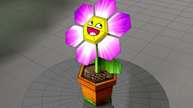 Simple flower papercraft cinema4d pepakura after creating more and more complex and highly detailed papercraft models i wanted to go back to the roots and do something quick and simple mightylinksfo