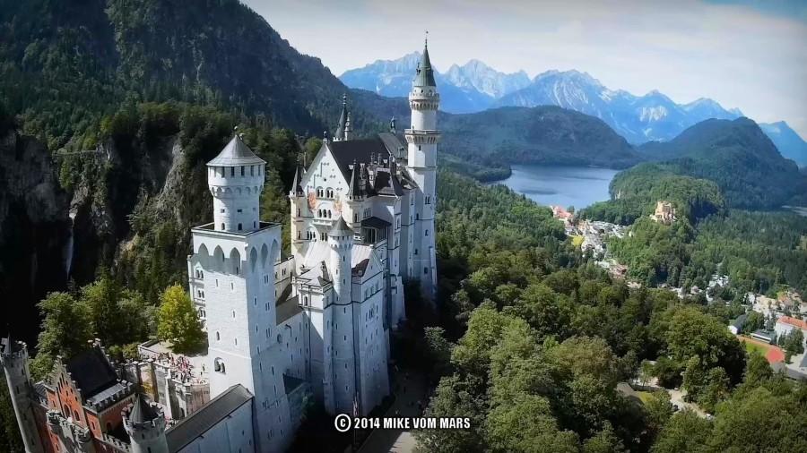 Neuschwanstein Castle Schloss Hohenschwangau FPV DJI Phantom Kopter Bayern Bavaria Drone Fatshark Mobius HD action cam predator attitude scenic nature alps mountains Forggensee Aerial Luftbild Luftaufnahmen Drohne Copter
