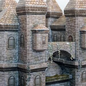 Papercraft Castle Built With Cinema4d And Pepakura