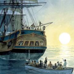 bounty meuterei william bligh fletcher christian logbuch wissenschaft tahiti pitcairn 1789 seekarten navigation kriegsgericht geschlechtskrankheiten